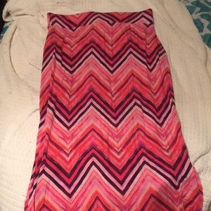 a.n.a pink maxi skirt with slits